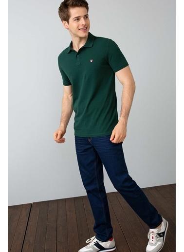 U.S.Polo Assn. Slim Fit Polo Yaka Tişört Yeşil